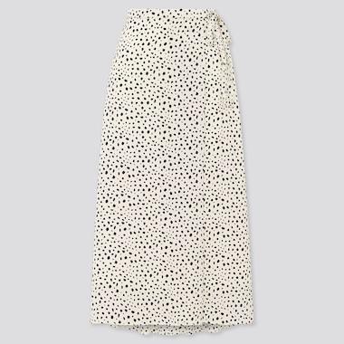 Women Belted Tucked Flare Skirt
