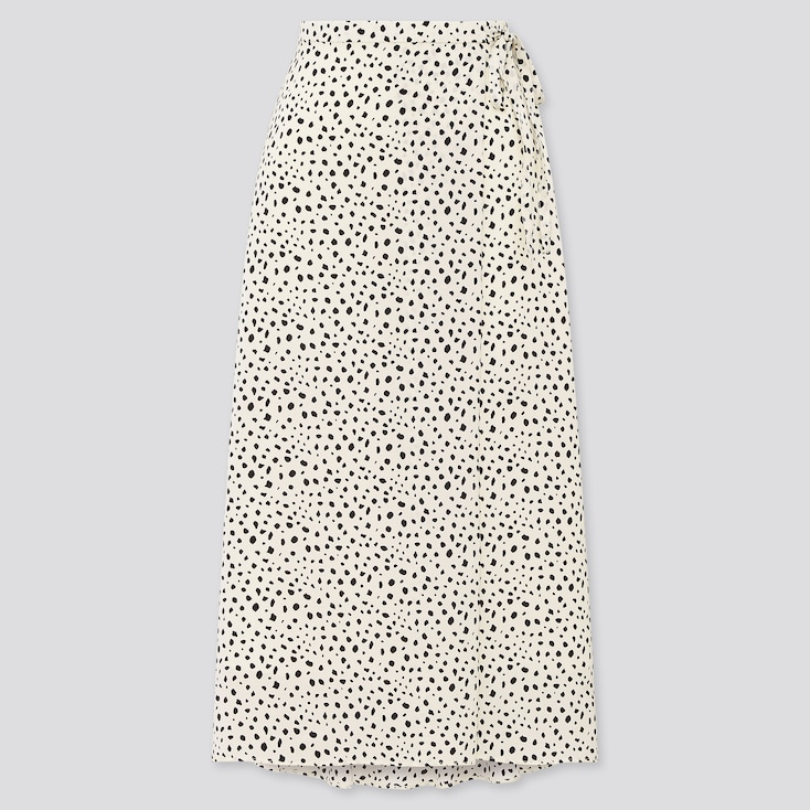 Women Belted Tucked Flare Skirt, Off White, Large