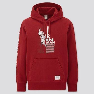 The Universe Of Marvel Long-Sleeve Sweat Pullover Hoodie, Red, Medium