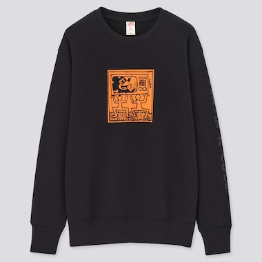 Mickey Mouse X Keith Haring Ut Long-Sleeve Sweatshirt, Black, Medium