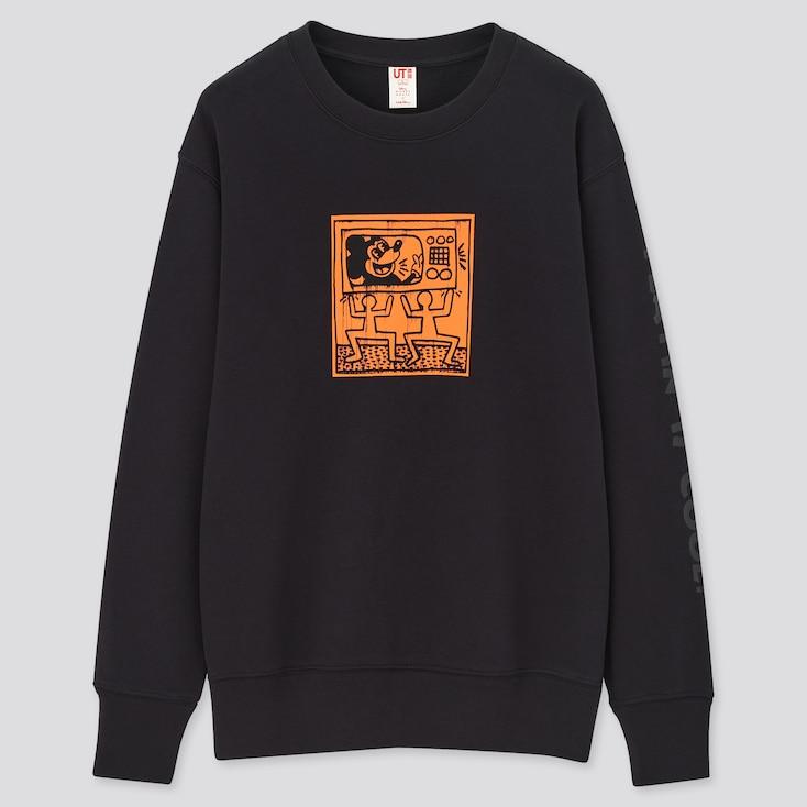 Mickey Mouse X Keith Haring Ut Long-Sleeve Sweatshirt, Black, Large