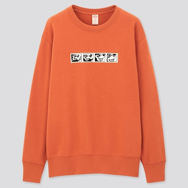 Mickey Mouse X Keith Haring Ut Long-Sleeve Sweatshirt, Orange, Medium