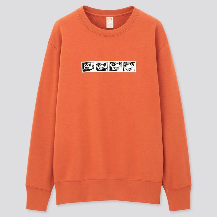 Mickey Mouse X Keith Haring Ut Long-Sleeve Sweatshirt, Orange, Large
