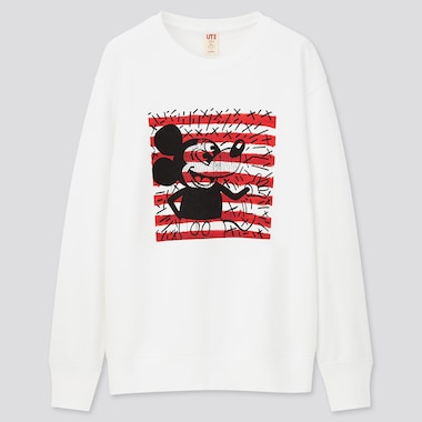Mickey Mouse X Keith Haring Ut Long-Sleeve Sweatshirt, White, Medium
