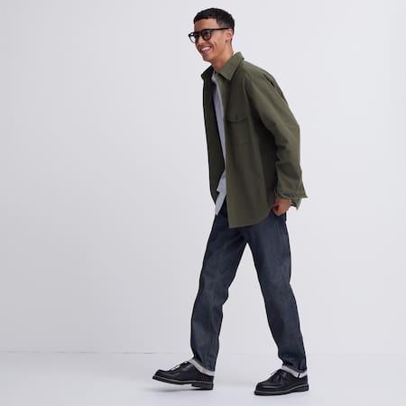 Men Selvedge Regular Fit Straight Leg Jeans
