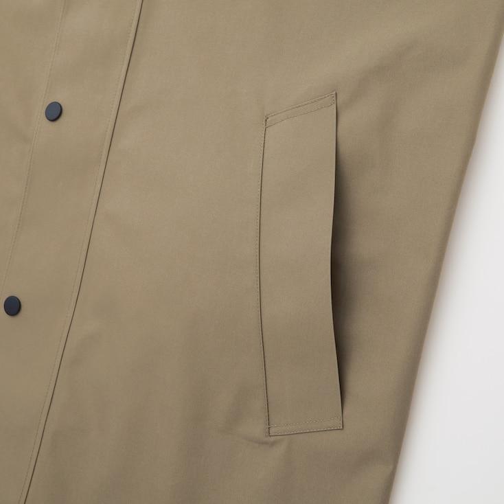 Men Blocktech Hooded Coat, Beige, Large