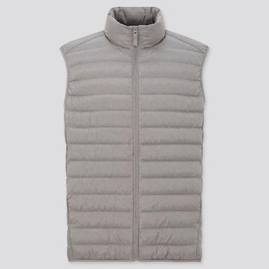 Men Ultra Light Down Vest, Gray, Medium
