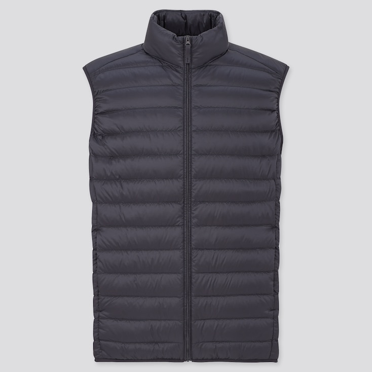 Men Ultra Light Down Vest, Navy, Large
