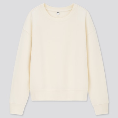 Women Double Face Long-Sleeve Sweatshirt, Off White, Medium
