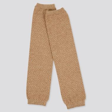 Women Pique Heattech Knitted Leg Warmers (Online Exclusive), Beige, Medium