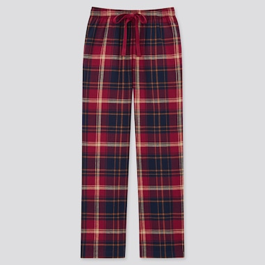 Women Flannel Pants, Red, Medium
