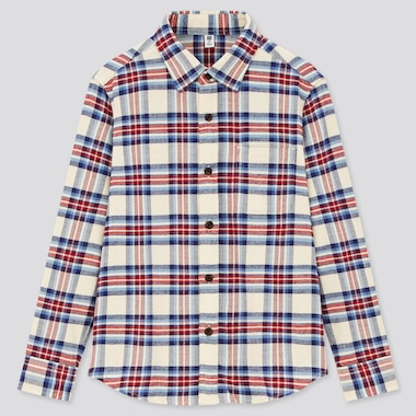 Kids Flannel Checked Long Sleeved Shirt