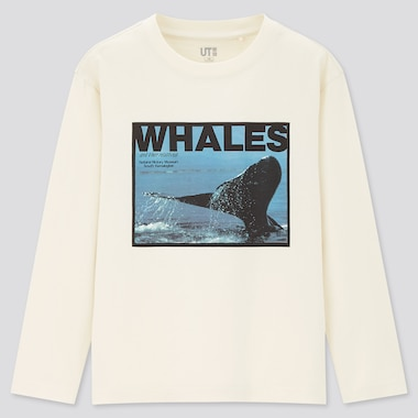 Kids Natural History Museum Ut (Long-Sleeve Graphic T-Shirt) (Online Exclusive), Off White, Medium