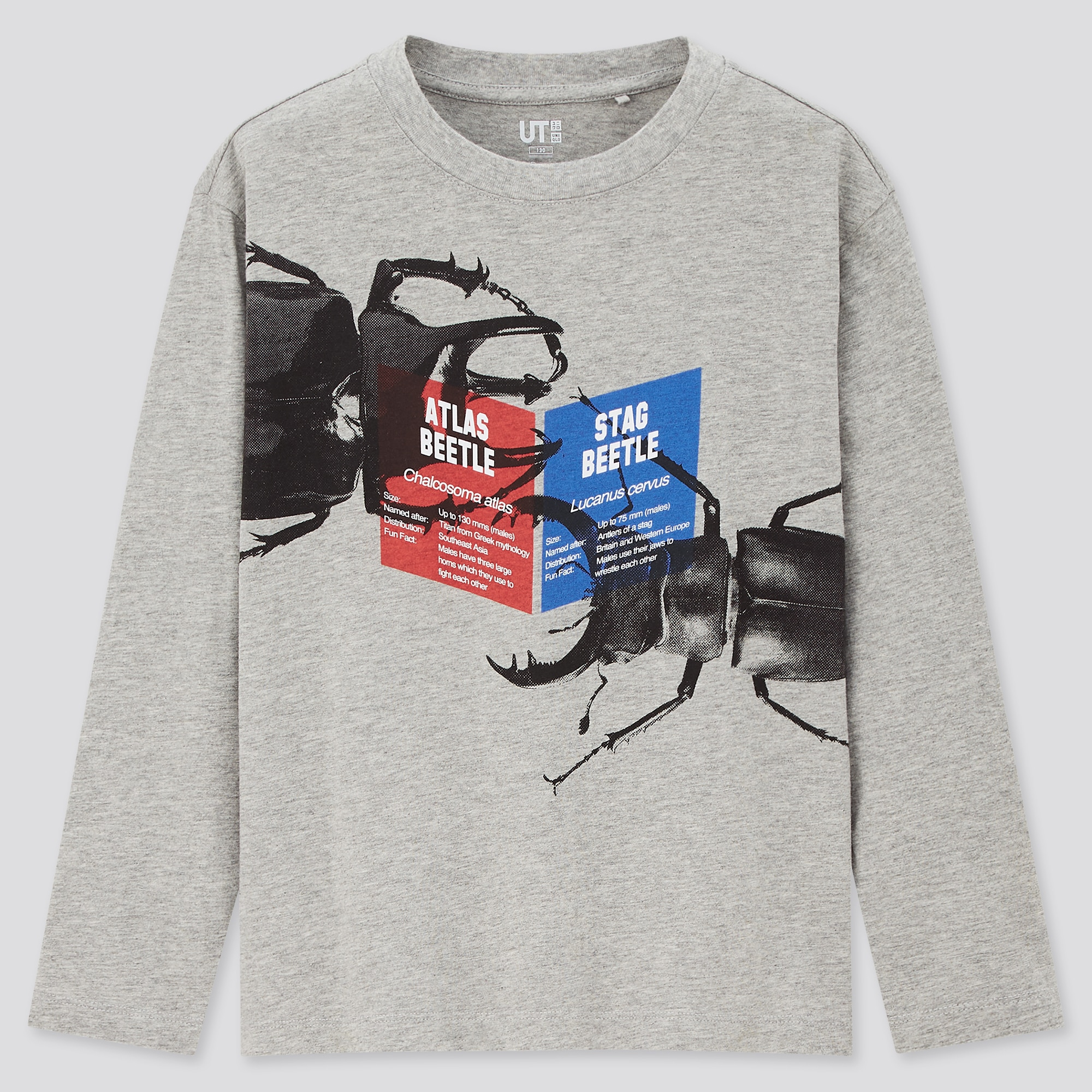 Uniqlo KIDS NATURAL HISTORY MUSEUM UT (LONG-SLEEVE GRAPHIC T-SHIRT)