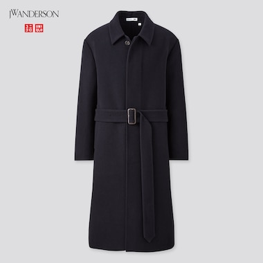 Men Double-Faced Single-Breasted Coat (Jw Anderson), Navy, Medium