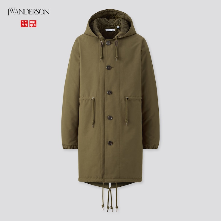 Men Fishtail Parka (Jw Anderson), Olive, Large