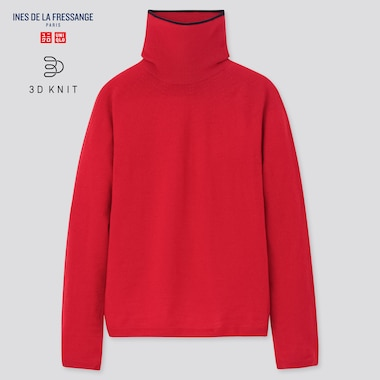 Women Ines 3D Extra Fine Merino Turtleneck Sweater