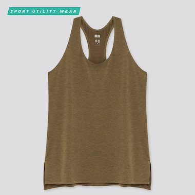 Women Airism Seamless Tank Top, Olive, Medium