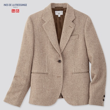 Women Tweed Jacket (Ines De La Fressange), Beige, Medium