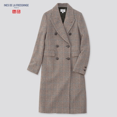 Women Tweed Coat (Ines De La Fressange), Gray, Medium