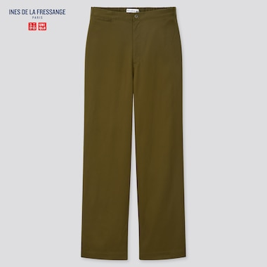 Women Tencel Twill Easy Pants (Ines De La Fressange), Olive, Medium