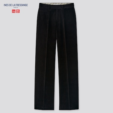 Women Velvet Pants (Ines De La Fressange), Black, Medium