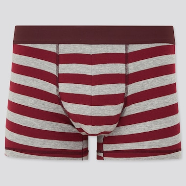 Men Supima Cotton Low Rise Striped Boxer Briefs