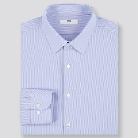 Men Easy Care Comfort Striped Long Sleeved Shirt