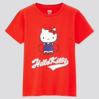 Girls Sanrio Characters Ut (Short-Sleeve Graphic T-Shirt), Red, Medium
