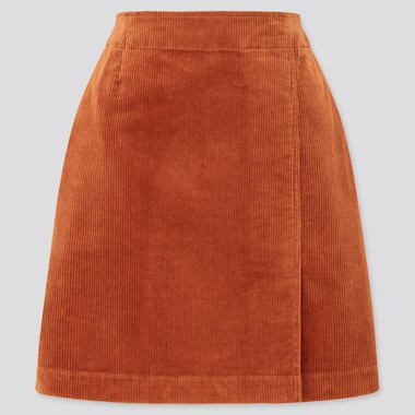 Women Corduroy Mini Skirt