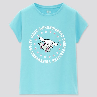 Girls Sanrio Characters Ut (Short-Sleeve Graphic T-Shirt), Blue, Medium