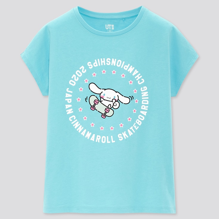 Girls Sanrio Characters Ut (Short-Sleeve Graphic T-Shirt), Blue, Large