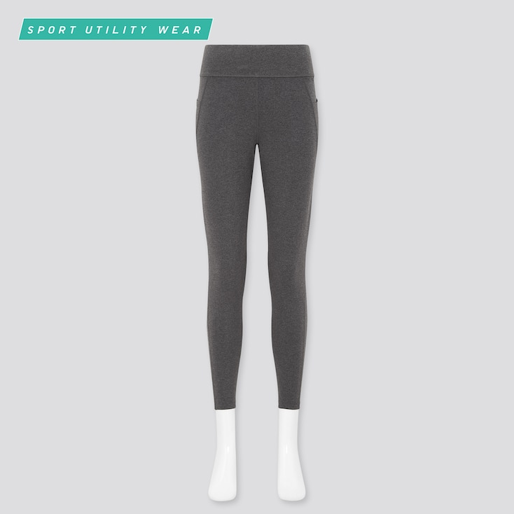 Women Airism Soft Leggings (With Pockets), Dark Gray, Large