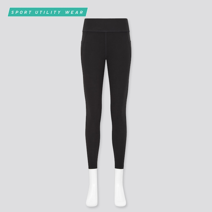 Women Airism Soft Leggings (With Pockets), Black, Large