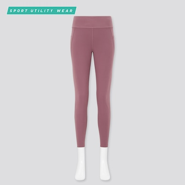 Women Airism Soft Leggings (With Pockets), Pink, Medium