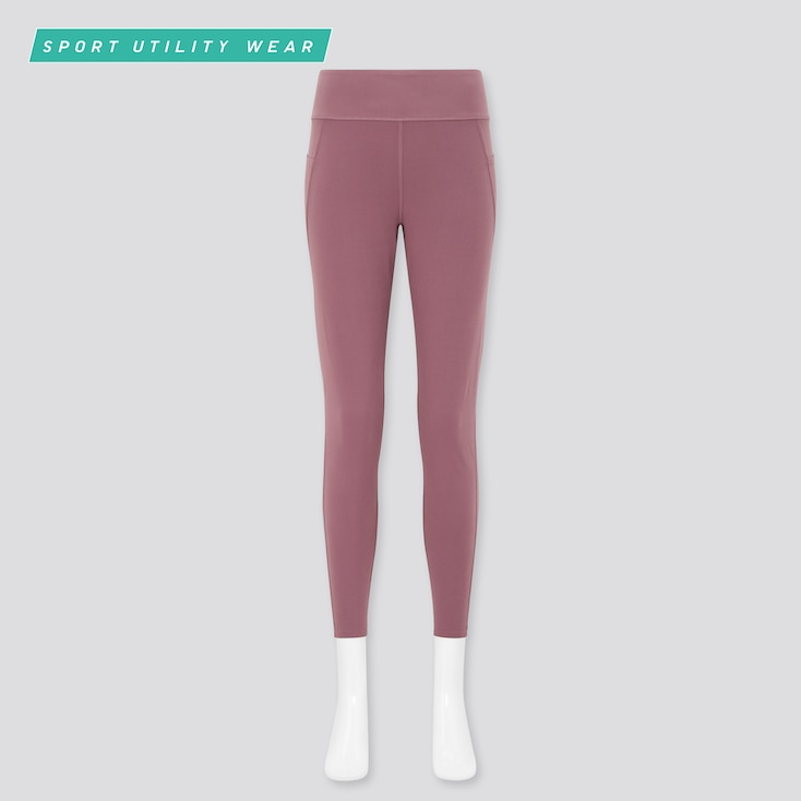 Women Airism Soft Leggings (With Pockets), Pink, Large
