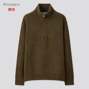 Men JW ANDERSON Soufflé Yarn Half-Zipped Jumper