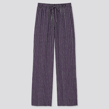Women Drape Striped Straight Leg Trousers