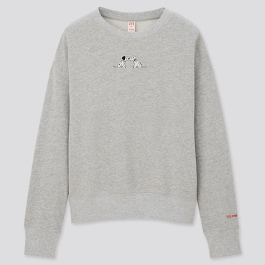 Women Disney Furry Friends Long-Sleeve Sweatshirt, Gray, Medium