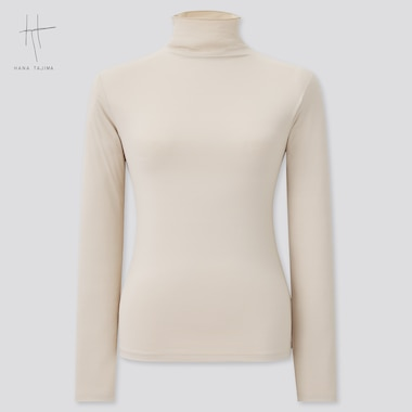 Women Hana Tajima Airism UV Protection High Neck Long Sleeved T-Shirt