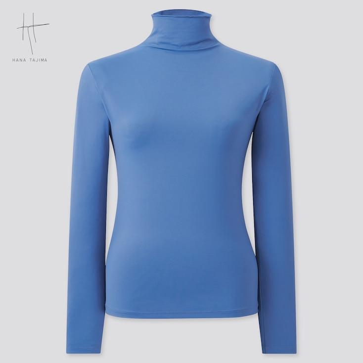 Women Airism Uv Protection Long-Sleeve T-Shirt (Hana Tajima), Blue, Large