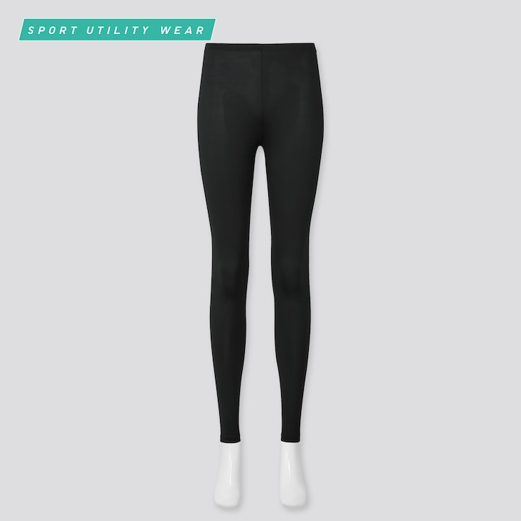 Women Airism Uv Protection Leggings, Black, Large