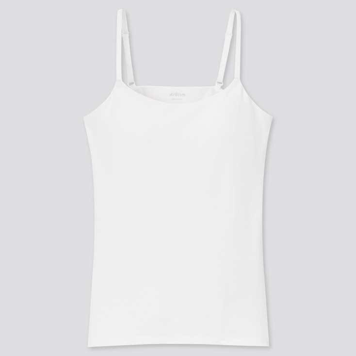 Women Airism Bra Camisole, White, Large