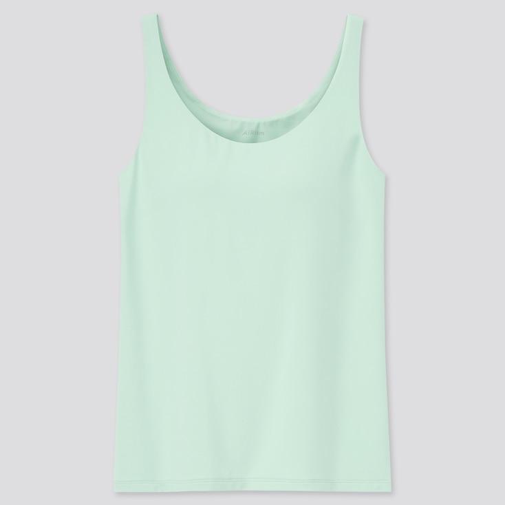 Women Airism Sleeveless Bra Top, Green, Large