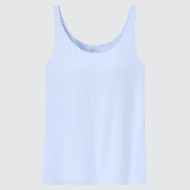 Women Airism Sleeveless Bra Top, Light Blue, Large