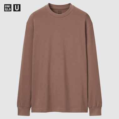 Men Uniqlo U HEATTECH Cotton Crew Neck Thermal Top