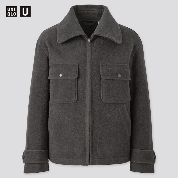 Men Uniqlo U Wool Blend Fleece Jacket Uniqlo