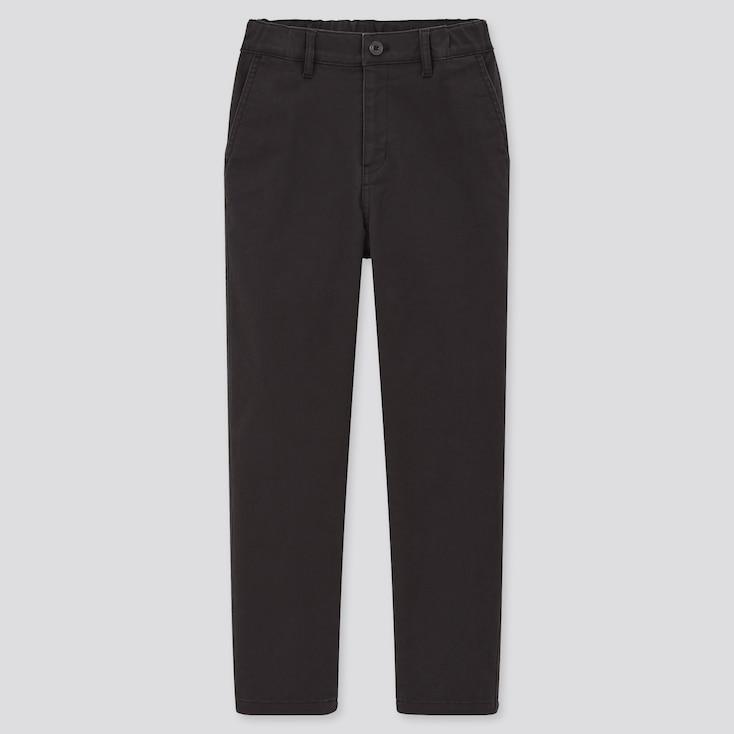 Kids Ultra Stretch Regular-Fit Zip-Fly Chino Pants, Black, Large