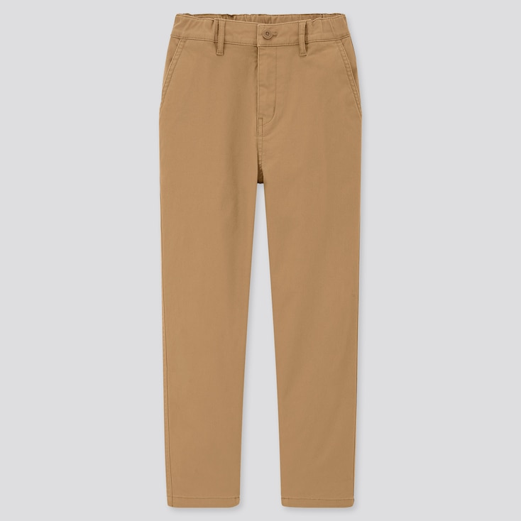 Kids Ultra Stretch Regular-Fit Zip-Fly Chino Pants (Online Exclusive), Brown, Large