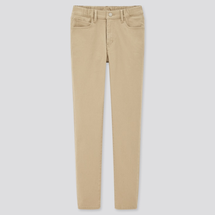 Kids Ultra Stretch Slim-Fit Zip-Fly Pants (Online Exclusive), Beige, Large
